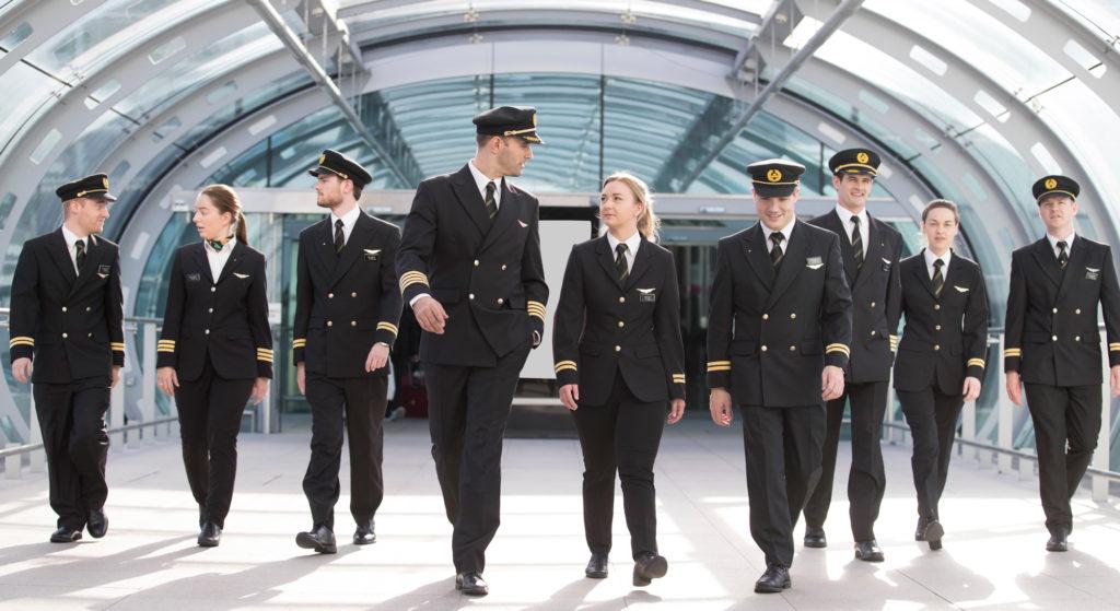 Aer Lingus Pilots in Dublin Airport