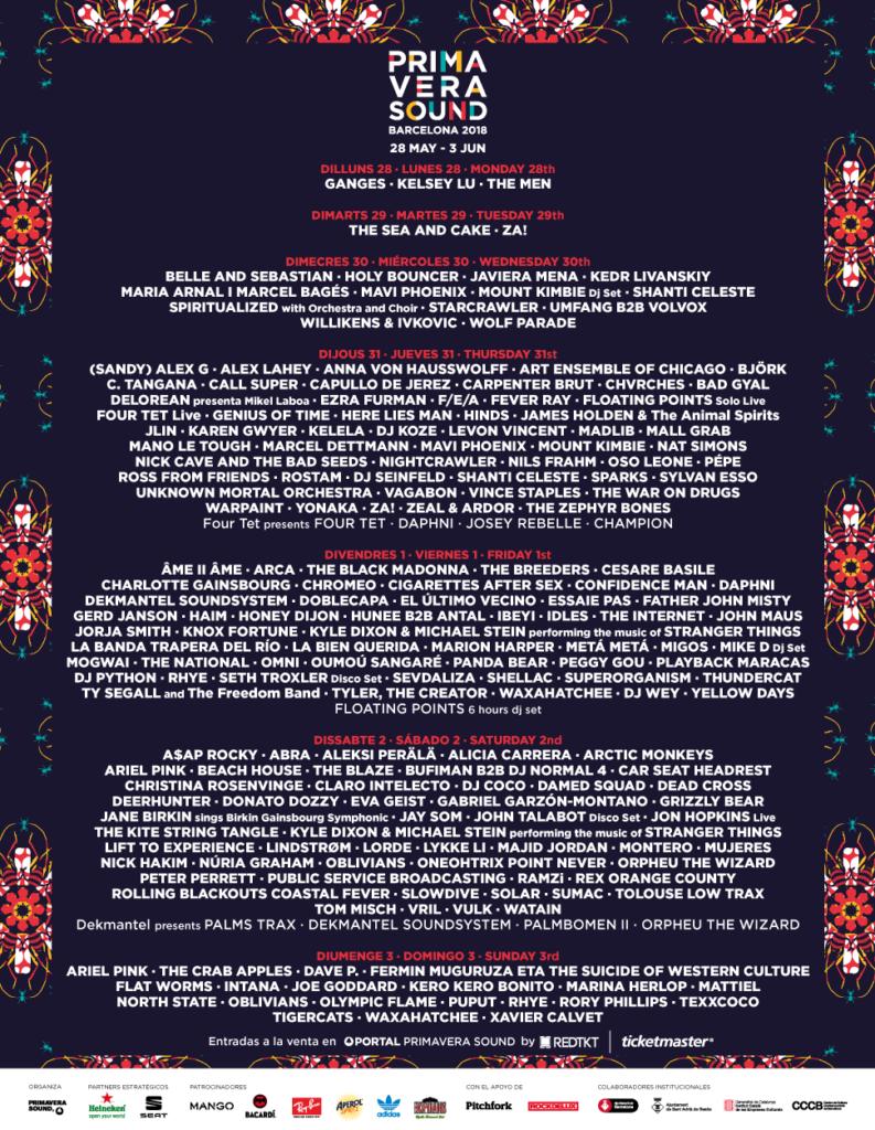 Primavera Sound lineup