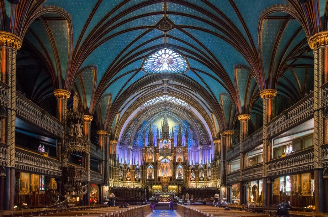 Notre-Dame Basilica interior, Montreal