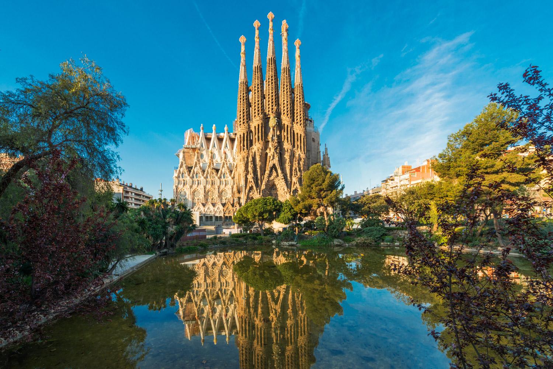 Sagrada Familia at Barcelona, Spain