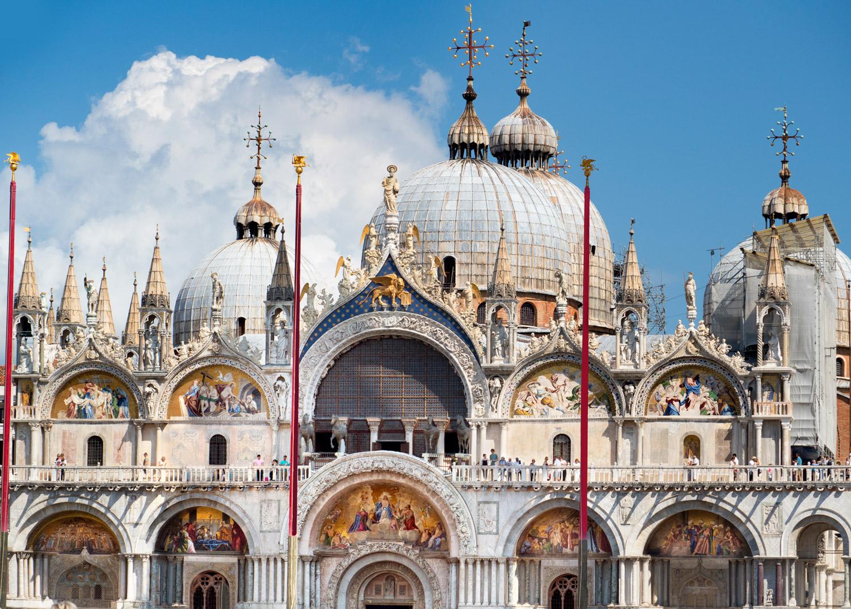 Facade of St Marks Basilica, Venice
