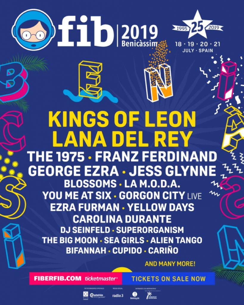 FIB Benicassim Festival line up 2019