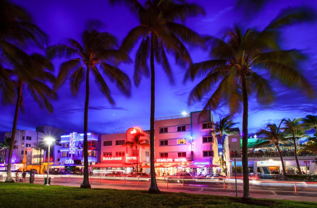 Ocean Drive at Dusk, Miami