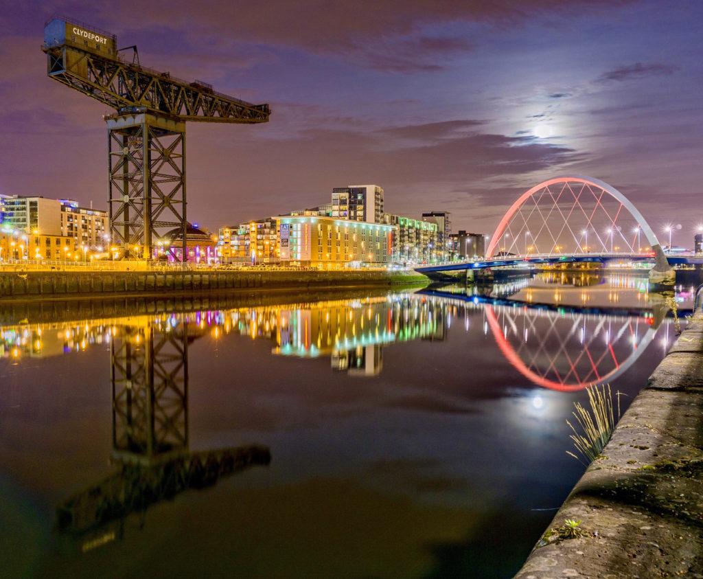 glasgow night scotland