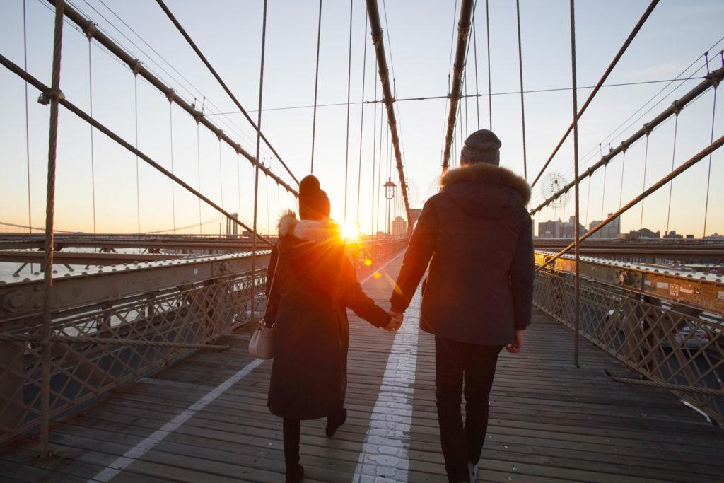 New York Walk Sunset