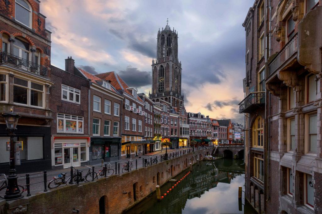 Dom Tower, Oudegracht, Utrecht, Netherlands