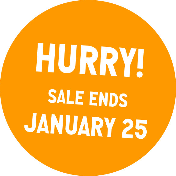 Hurry! Sale ends January 25