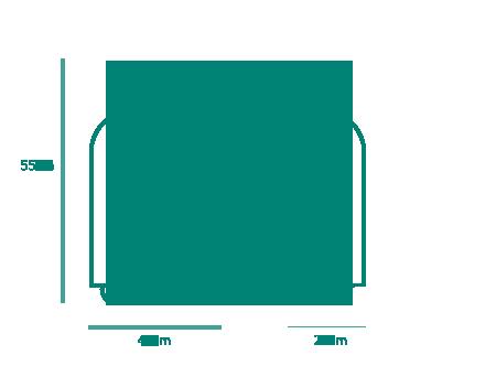 Gepäckstück mit 10kg. 55cm x 40cm x 24cm