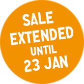 Sale Extended until 23 January