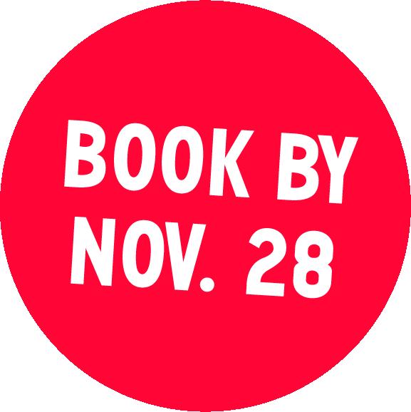 Book by Nov. 28