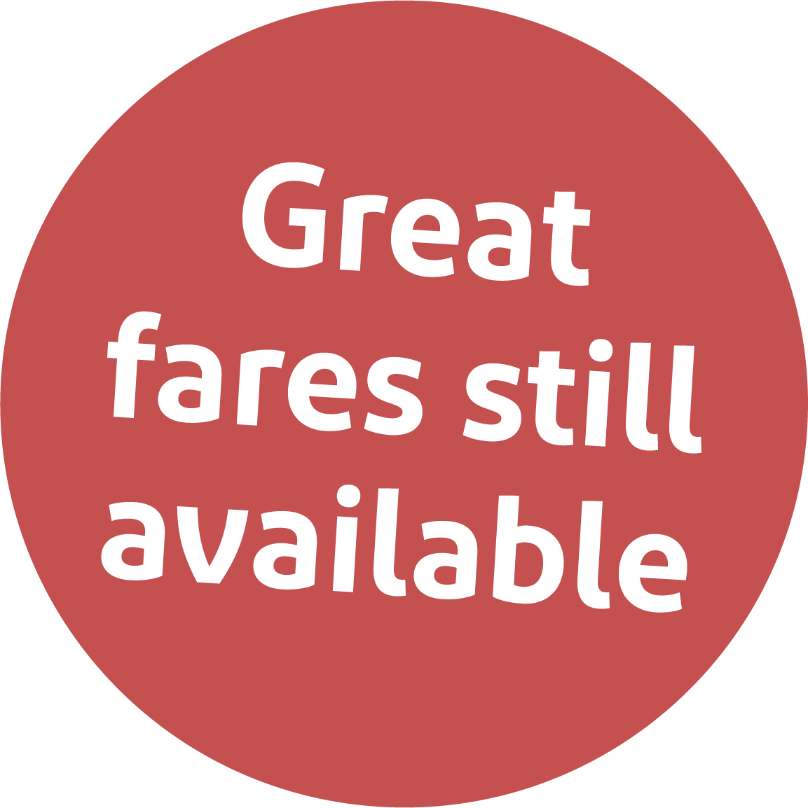 Great fares still available
